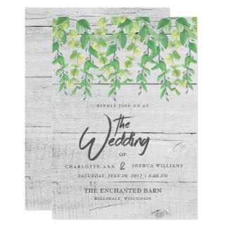 WEDDING INVITATION | Rustic Greenery Watercolor