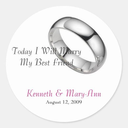Wedding Invitation Seals Round Sticker