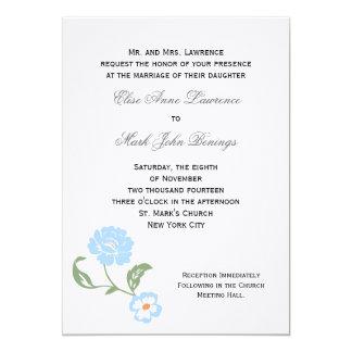 "Wedding Invitation Template 5"" X 7"" Invitation Card"
