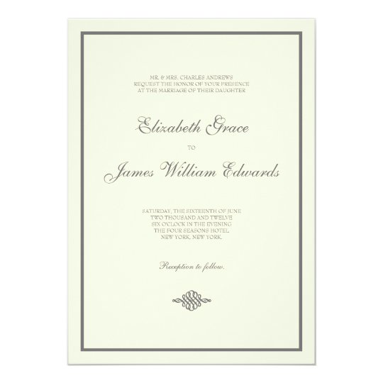 Wedding Invitation // The Elegant Collection