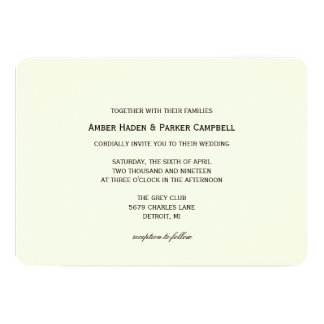 Wedding Invitation | To have & To Hold