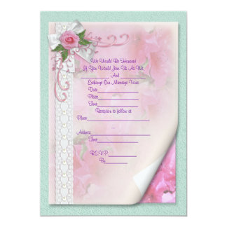 Wedding Invitation victorian rose