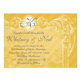 Wedding Invitation Vintage Grunge Collection