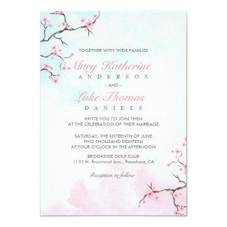 Wedding Invitation | Watercolor Cherry Blossom