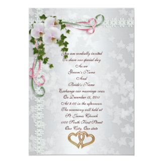 Wedding invitation white Orchids