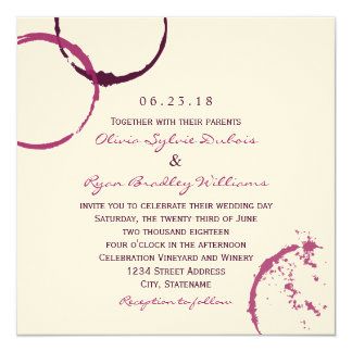 Wedding Invitation | Wine Stain Rings