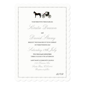 Wedding Invitation with Horse & Carriage