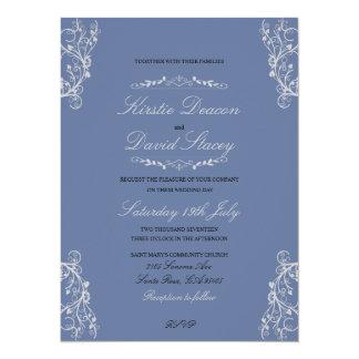 Wedding Invitation with Ornate Decorations