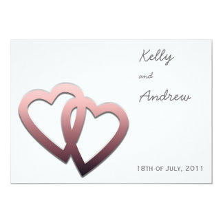 Wedding Invitation with Pair of Hearts Together