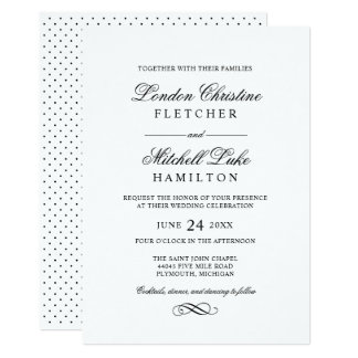 Wedding Invitations | Black Classic Elegance