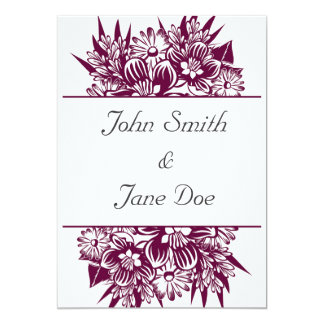 Wedding Invitations | Burgundy Flowers