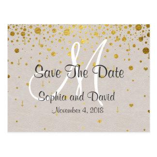 Wedding Invitations | Gold Confetti SAVE THE DATE