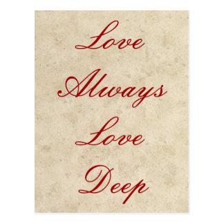 Wedding Invitations - Love Always Love Deep Postcard