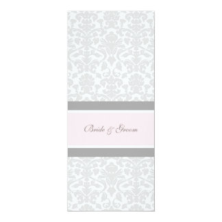 Wedding Invitations Pink Gray White Damask