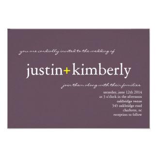 Wedding Invite A+ sm purple 7 Designer Colors