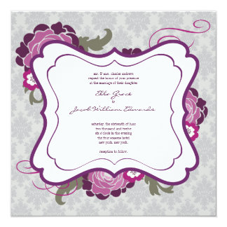 Wedding Invite // The Plum Bouquet Collection