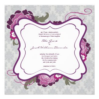 Wedding Invite The Plum Bouquet Collection