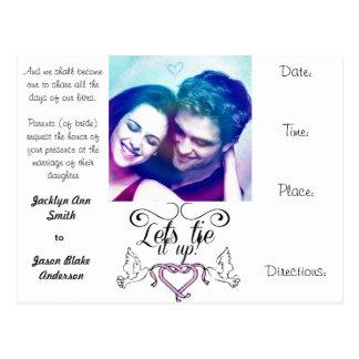 wedding invites postcard personalise