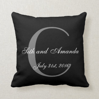 Wedding Keepsake Personalized Monogram Throw Pillow