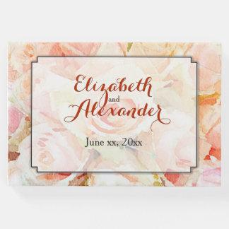 Wedding Keepsake Watercolor Floral Guest Book