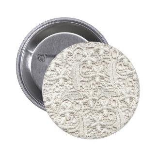 Wedding Lace 6 Cm Round Badge