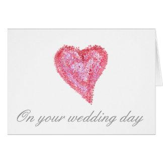 Wedding large heart card