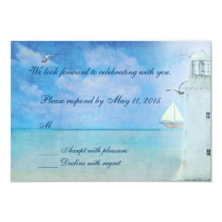 Wedding Lighthouse RSVP Card