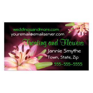 Wedding Lily Biz Card or Save-the-date- customize Pack Of Standard Business Cards