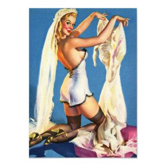 Wedding lingerie shower card