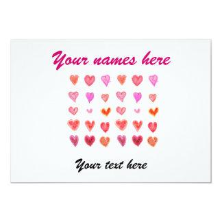 Wedding little hearts custom announcement