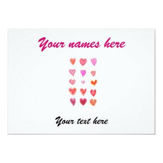 Wedding little hearts 13 cm x 18 cm invitation card