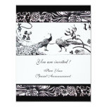 WEDDING LOVE BIRDS ,black and white Custom Invite