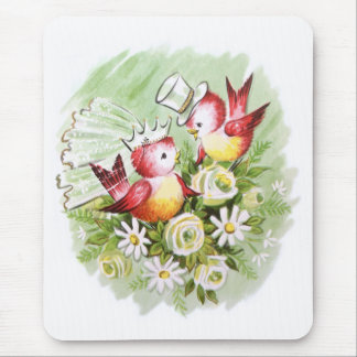 Wedding Love Birds Mouse Pad