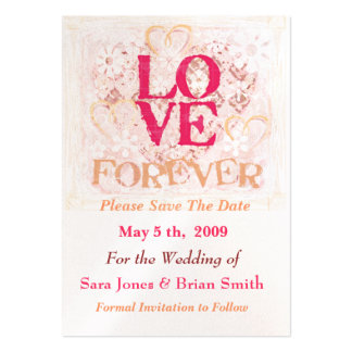 Wedding Love Bride & Groom Save The Date Card Business Card Template