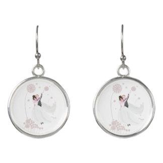 Wedding love earrings
