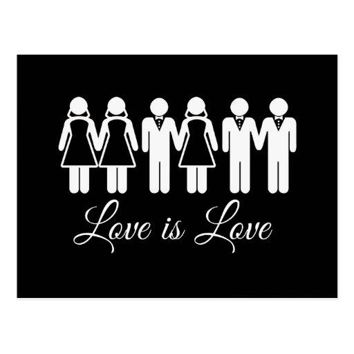 WEDDING LOVE IS LOVE POSTCARDS