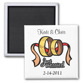 Wedding magnets Just married personalize it
