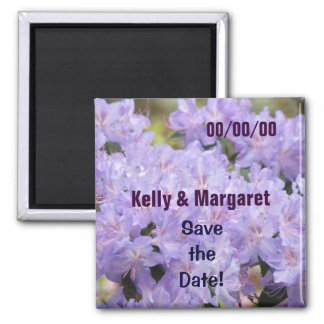 Wedding Magnets Lavender Save the Date Weddings