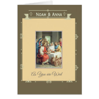 Wedding Marriage Bride Groom Jesus Cana Card