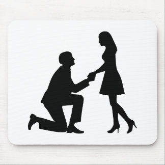 Wedding Marriage Proposal Mouse Pads