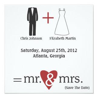 Wedding Math Card