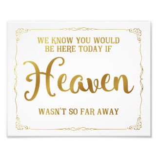 wedding memorial sign, remembrance, gold photo