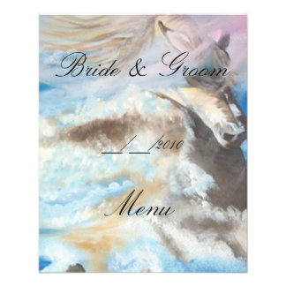 wedding menu 11.5 cm x 14 cm flyer