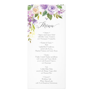 Wedding Menu  - Bridal Shower Menu - Darling Flora