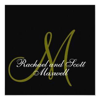 Wedding Menu Cards Monogram Square 13 Cm X 13 Cm Square Invitation Card