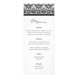 Wedding Menu Damask Invite