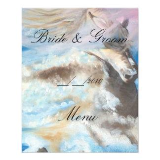 wedding menu full color flyer