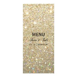 Wedding Menu - Gold Glit Fab