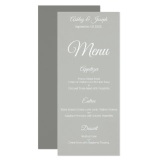 Wedding Menu - Gray Card