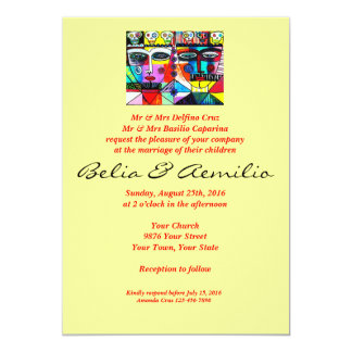 Wedding - Mexican Couple Reflections 13 Cm X 18 Cm Invitation Card